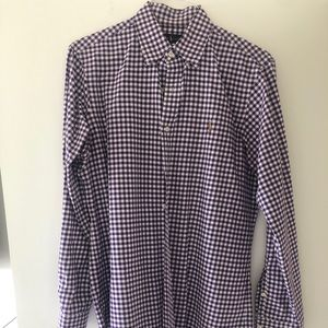Ralph Lauren purple checkered button down